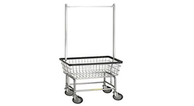 Laundry Cart with Double Pole Rack