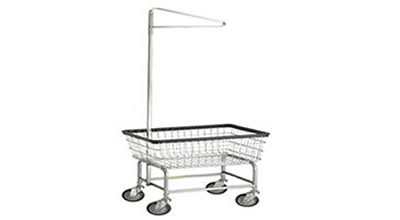 Standard Laundry Cart with Single Pole Rack